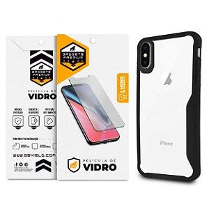 Kit Capa Atomic e Película de Vidro Dupla para Iphone X e XS - Gshield