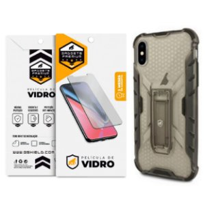 Kit Capa Plasma e Película de Vidro Dupla para Iphone X e XS - Gshield