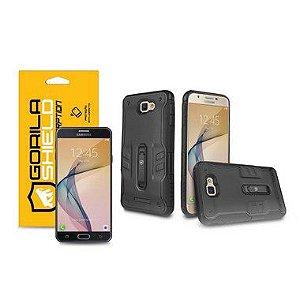 Kit Capa Tech Clip e Película de Vidro Dupla para Galaxy J7 Prime - Gorila Shield
