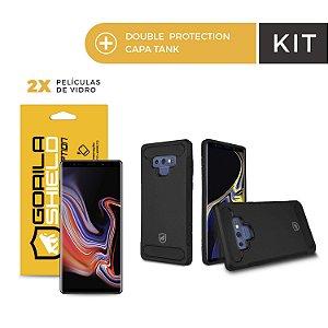 Kit Capa Tank e Película de Nano Gel Dupla para Galaxy Note 9 - Gorila Shield
