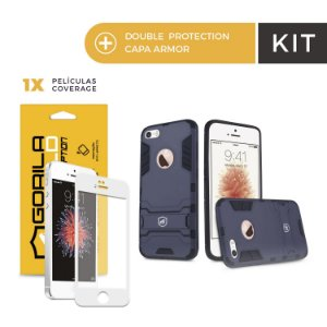 Kit Capa Armor e Película Coverage Color Branca para Iphone 6s - Gorila Shield