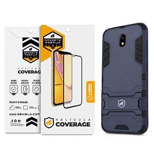 Kit Capa Armor e Película Coverage Color Branca para Galaxy J7 Pro - Gshield