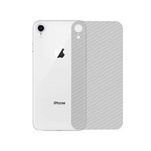 Película Traseira de Fibra de Carbono Transparente para iPhone XR - Gshield