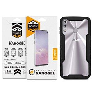 Kit Capa Dual Shock e Película Nano Gel Dupla para Zenfone 5 e 5z - Gshield