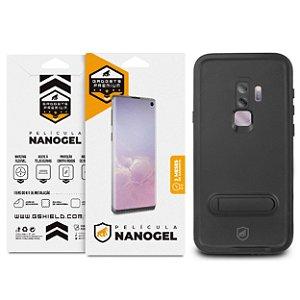 Kit Capa á Prova D'água e Película Nano Gel Dupla para Galaxy S9 - Gshield
