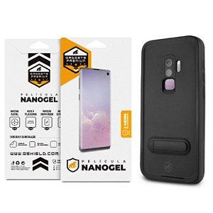 Kit Capa à Prova D'água e Película Nano Gel Dupla para Galaxy S9 Plus - Gshield