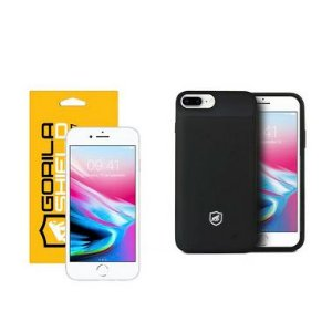 Kit Capa Carregadora e Película de Vidro Dupla para iPhone 8 Plus - Gorila Shield