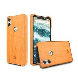 Capa de Madeira Peroba Clara para Motorola One - Gorila Shield