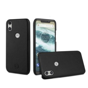 Capa Leather Slim Preta Motorola One - Gorila Shield