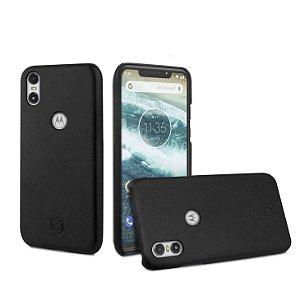 Capa Couro Slim Preta Motorola One - Gorila Shield