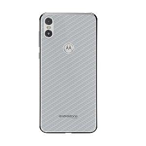 Película Traseira de Fibra de Carbono Transparente  para Motorola One - Gorila Shield