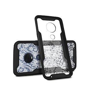 Capa Dual Shock Personalizada Rendada para Motorola Moto G7 - Gorila Shield