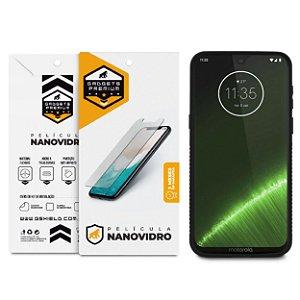 Kit Capa Dual Shock e Película de Nano Vidro para Motorola Moto G7 Plus - Gshield