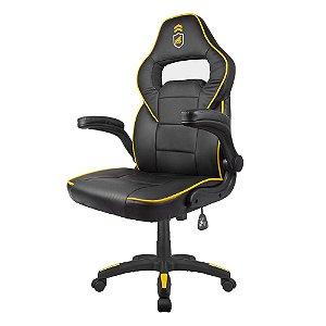Cadeira Gamer Armor Preta com Amarelo - Gshield