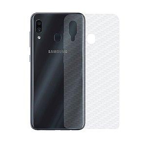 Película Traseira de Fibra de Carbono Transparente para Samsung Galaxy A30 - Gshield