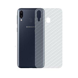 Película Traseira de Fibra de Carbono Transparente para Samsung Galaxy M20 - Gorila Shield