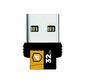 Cartão de Memória Turbo 32 GB U1 + Adaptador Pendrive Nano Slim + Adaptador SD - Gshield