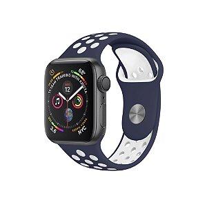 Pulseira para Apple Watch Armor Running - Azul escuro e branco - Gorila Shield