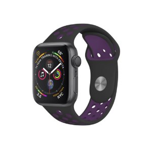 Pulseira para Apple Watch 42mm Armor Running - Preto e Roxo - Gorila Shield