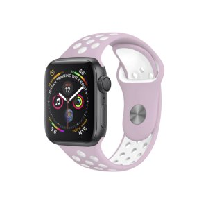 Pulseira para Apple Watch 42mm /44mm Armor Running - Rosa e Branco - Gshield