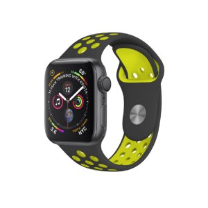 Pulseira para Apple Watch 42mm /44mm Armor Running - Preto e Verde limão - Gshield