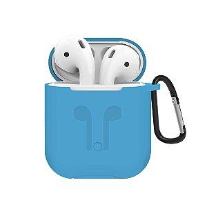 Capa de Silicone para Apple Airpods - Azul - Gorila Shield