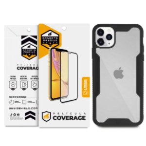 Kit Capa Dual Shock e Película Coverage Color para iPhone 11 Pro Max - Gshield