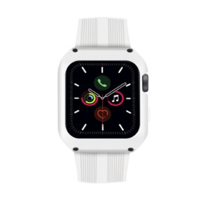 Pulseira Dual Shock Para Apple Watch 44mm - Branca - Gshield