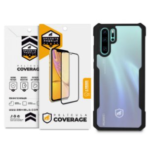 Kit Capa Dual Shock X e Película Coverage Color para Huawei P30 Pro - GShield