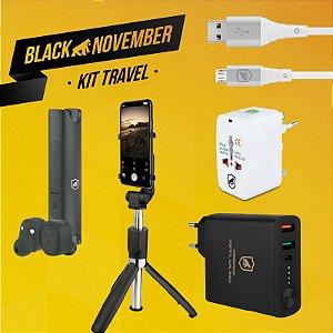 Kit Travel I - Micro USB V8 - Black November - GShield