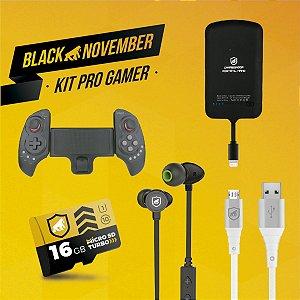 Kit Pro Gamer I - Micro USB V8 - Black November - Gshield