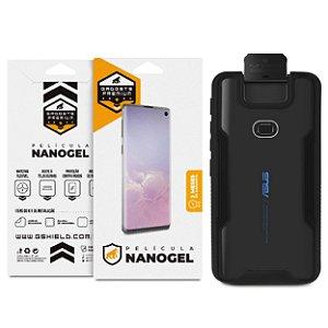 Kit Capa Dual Shock e Película Nano Gel para Zenfone 6 - GShield