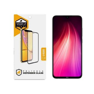 Película Defender Glass Para Xiaomi Redmi Note 8 - Preta - Gshield