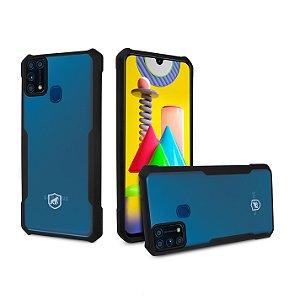 Capa Dual Shock X Preta Para Samsung Galaxy M31 - Gshield