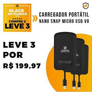 Carregador Portátil Nano Snap Micro USB V8 - Black November - Gshield