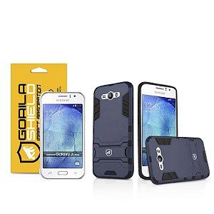 Kit Capa Armor e Película de vidro dupla para Samsung Galaxy J1 Ace - Gorila Shield