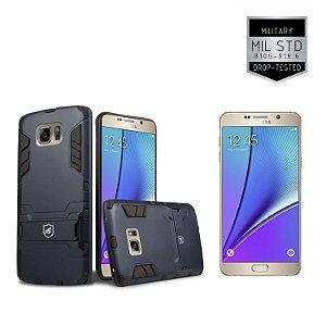 Kit Capa Armor Samsung Galaxy Note 5 e Pelicula de Vidro - Gorila Shield