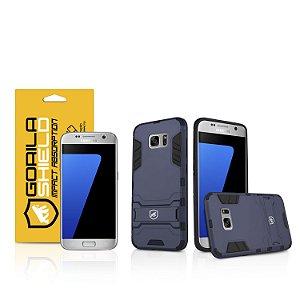 Kit Capa Armor e Película de vidro dupla para Samsung Galaxy S7 Flat - Gshield