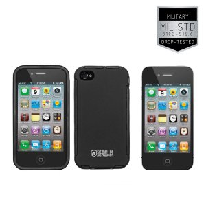 Kit Capa Protetora Apple Iphone 4, 4s e Pelicula de Vidro - Gorila Shield