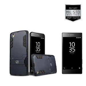 Kit Capa Armor Sony Xperia Z5 Premium e Pelicula de Vidro - Gorila Shield