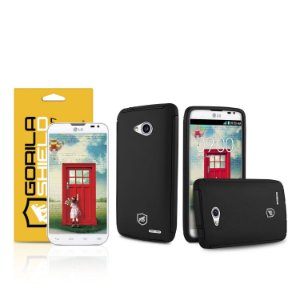 Kit Capa Protetora e Película de vidro dupla para LG L70 - Gorila Shield