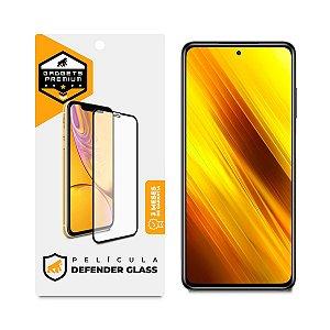 Película Defender Glass para Xiaomi Redmi Poco X3 - Preta - Gshield