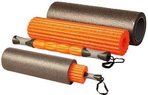 Foam Roller Rolo 3 Em 1 Para Yoga Pilates  Massagem Fisioterapia LiveUp