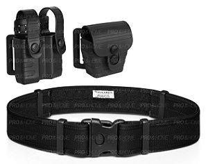 Kit Porta Carregador + Porta Algema Tab Lock² Bélica + Cinto Raptor II Maynards