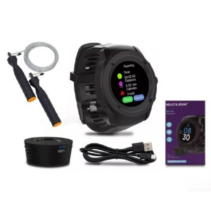 Kit Relógio Multiwatch Plus Sw2 Multilaser + Pula Corda Crossfit Vollo