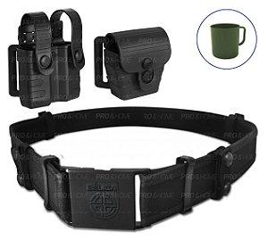 Kit Porta Carregador e Algema Tab Lock² + Cinto Bélica