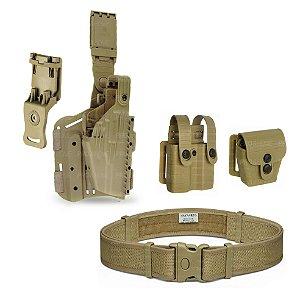 Coldre Hunter II + Porta Carregador + Porta Algema Tab Lock² Bélica + Cinto Maynards