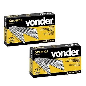Kit com 2 Caixas de Grampos 6mm GPV-6 VONDER