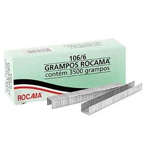 Caixa com 3500 Grampos 6mm 106-6 Polidos Para Grampeador Rocama