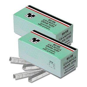 Kit com 2 Caixas de Grampos 8mm 80-08 para Grampeadores Rocama